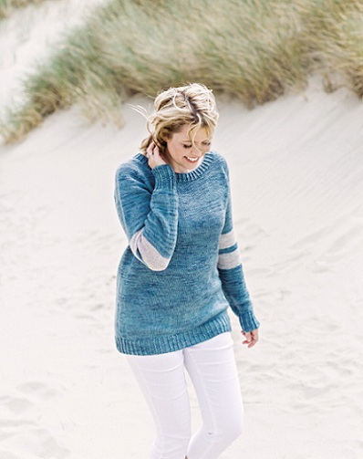 Meridian Striped Pullover - Free Knitted Sweater Pattern