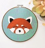 Red Panda Embroidery (Free Pattern)