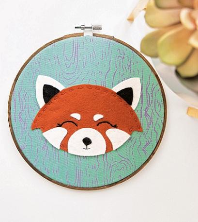 Red Panda Embroidery (Free Pattern)