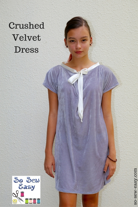 Crushed Velvet Dress FREE Sewing Tutorial