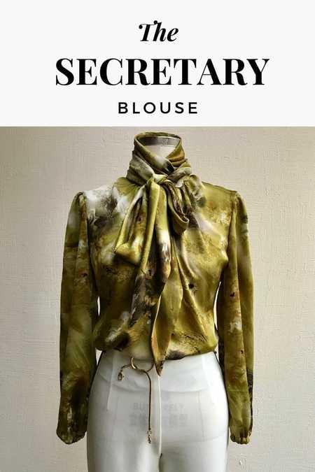 The Secretary Blouse Pattern