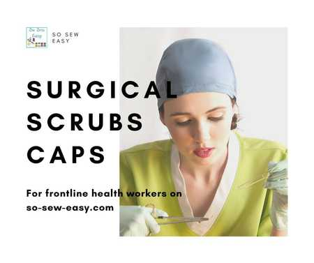 Surgical Scrub Caps for Frontline Healthcare Workers