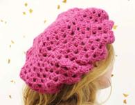 Raspberry Crochet Beret (Free Crochet Pattern)