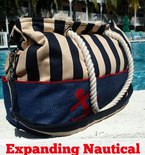 Expanding Nautical Tote Bag Pattern