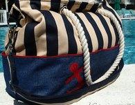 Expanding Nautical Tote Bag Pattern