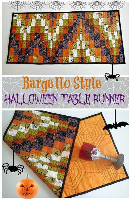 Bargello Style Halloween Table Runner