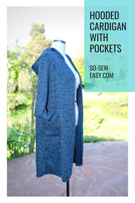 Hooded Cardigan with Pockets