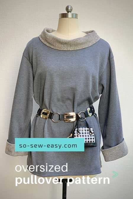 Oversized Pullover Top Free Sewing Pattern