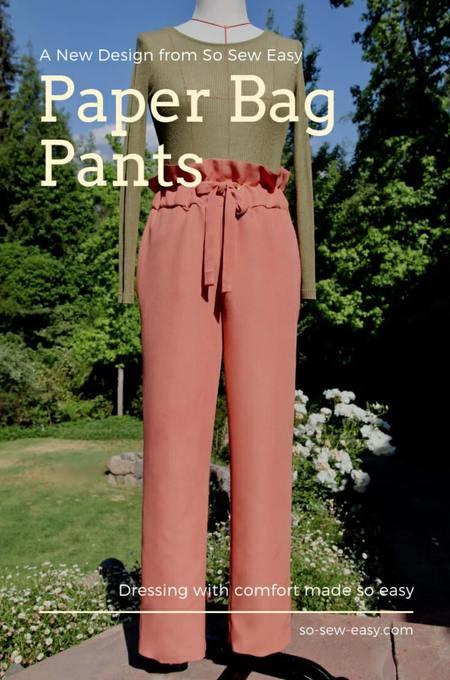 Paper Bag Pants Free Pattern
