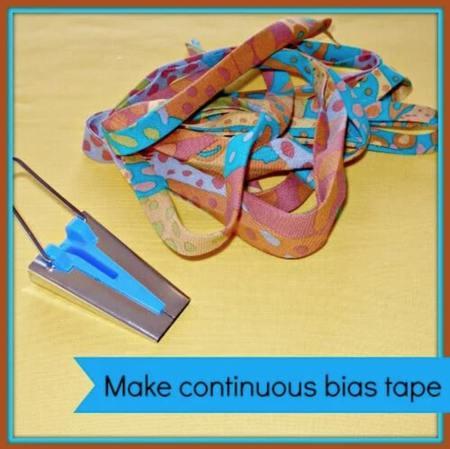 Making Continuous Bias Binding Tape