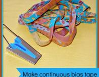 Making Continuous Bias Binding Tape