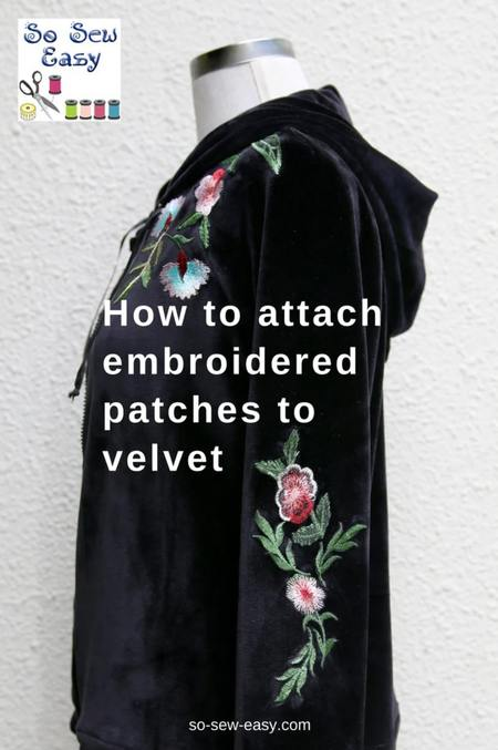 How to Make & Attach Embroidered Patches to Velvet