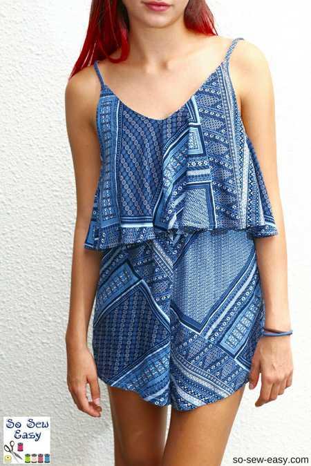 Easy Salina Romper FREE Sewing Pattern