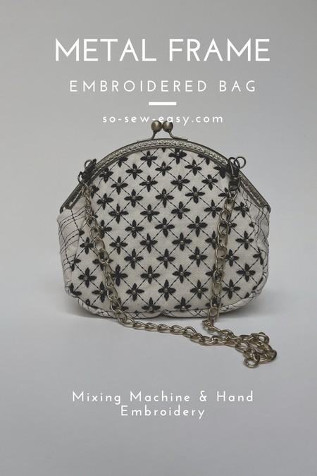 Metal Frame Embroidered Bag Pattern