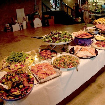 sandwich buffet wedding reception