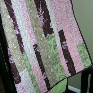 kid quilt with floral fabric