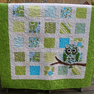 windowpane kid quilt