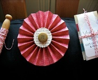 Paper Pinwheel made out of recycled gift wrap