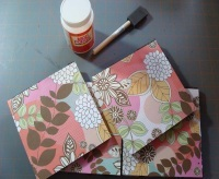 Custom Tile Coasters made from recycled gift wrap
