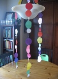 Confetti Circle Paper Garland made from wrapping paper
