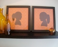 Silhouette Art made from gift wrap