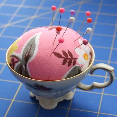 pincushion teacup