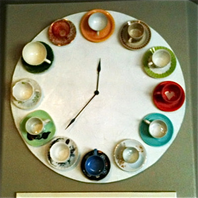 teacup wall clock