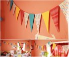 Paper Flag Banners scrapbook