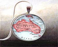 Australian map pendant