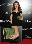 natalie portman holds green book purse