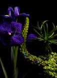 purple flower sculpture