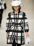stripe plaid coat