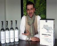 Pleurat Shabani markets his vodka line