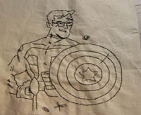 stephen colbert-captain america embroidered portrait