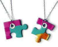 puzzle piece BFF necklace