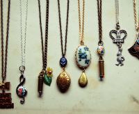 vintage pendant bff necklaces