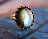 labradorite promise ring