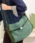 Tunisian crochet shoulder bag