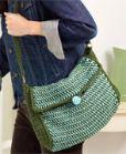 Tunisian crochet shoulder bag