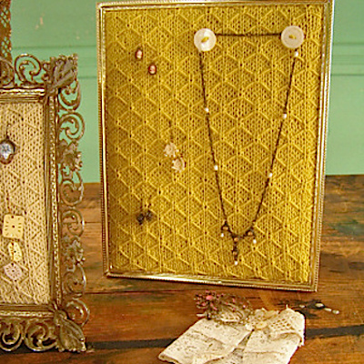 how to knit a jewelry holder