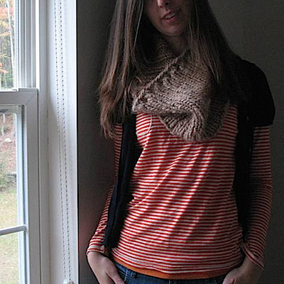 How to make an oversized knit cowl