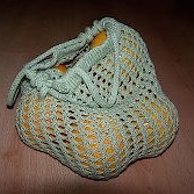 How to knit a grocery tote