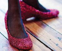 Ruby Red Slippers, upcycle