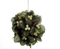 mistletoe is formed into a ball to create a unique Christmas decoration