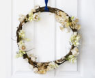 modern DIY hoop christmas wreath