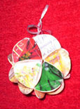 recycled cards christmas ornament