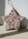decoupage star Christmas ornament