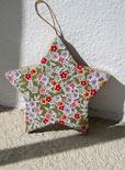 decoupage star Christmas ornament
