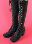 brown suede lace up boots