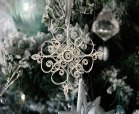 delicate snowflakes christmas decoration